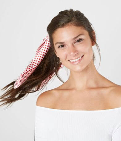 BKE Polka Dot Hair Scarf Scrunchie Set