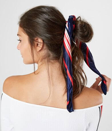 BKE Striped Hair Scarf Scrunchie Set