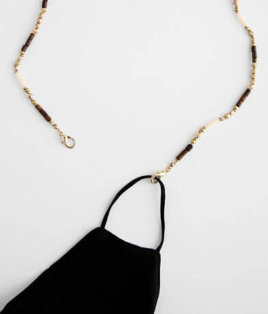 Beaded Chain Face Mask Holder Necklace