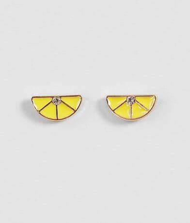 BKE Lemon Rhinestone Earring