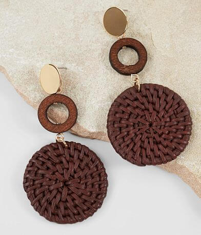 BKE Tiered Straw Earring