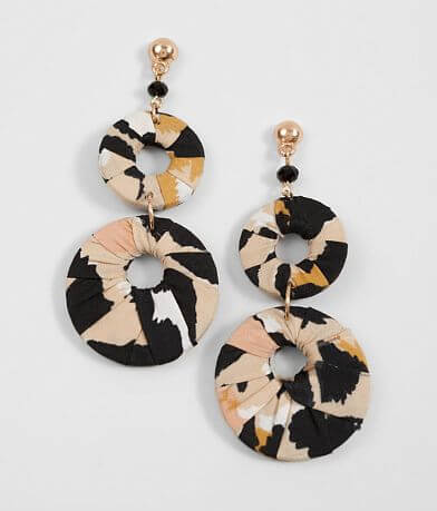 BKE Tiered Fabric Earring