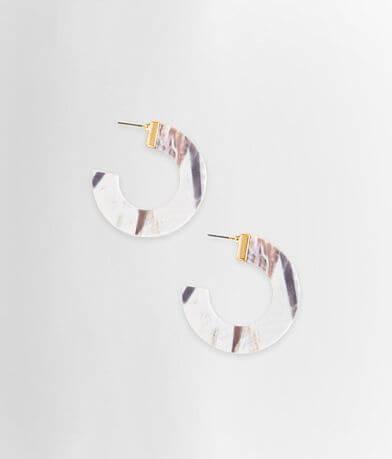 BKE Marble Hoop Earring