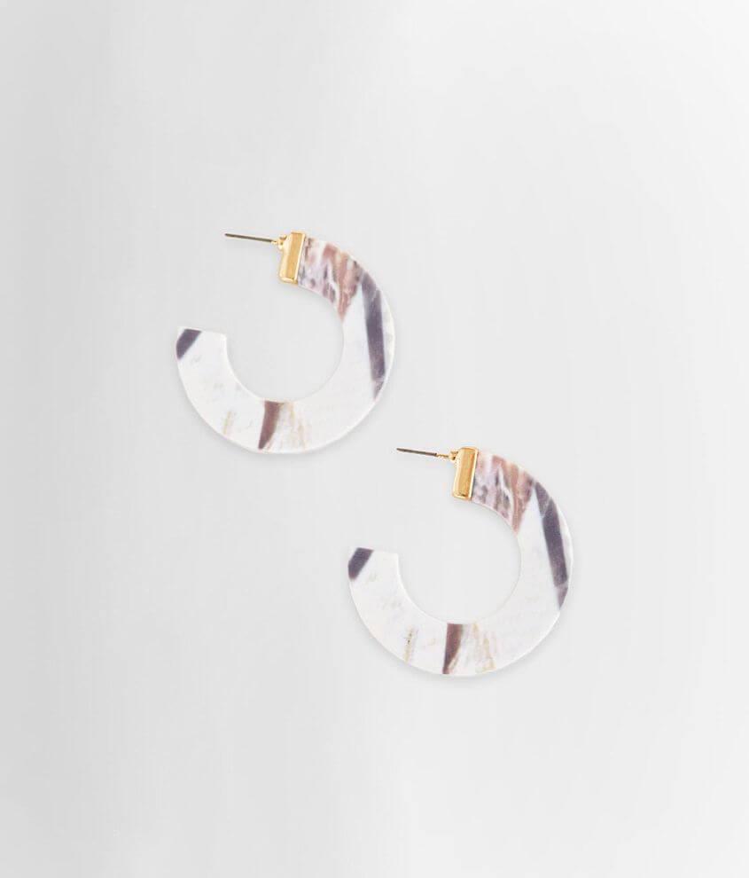 BKE Marble Hoop Earring front view