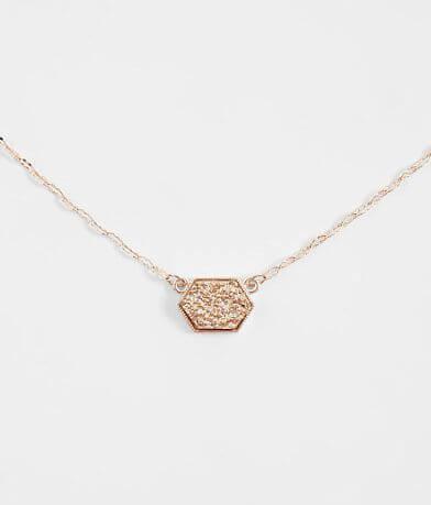 BKE Druzy Dainty Necklace