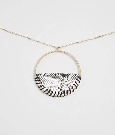 BKE Snakeskin Pendant Necklace
