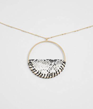 BKE Snakeskin Pendant Necklace