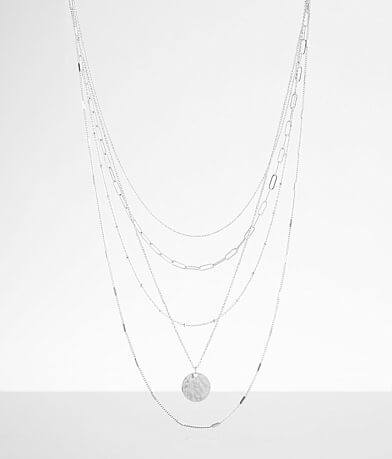 BKE Tiered Paperclip Chain Necklace
