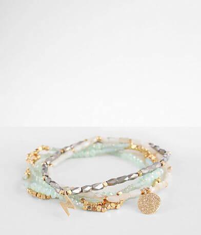 BKE Beaded 5 Pack Bracelet Set