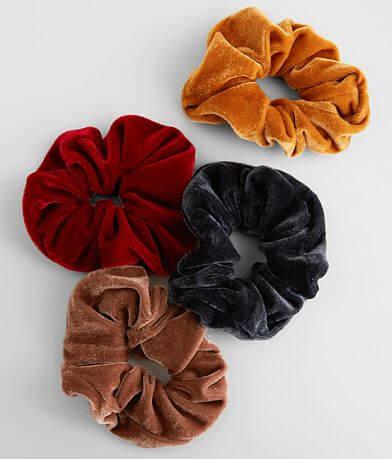 Velvet 4 Pack Hair Scrunchies