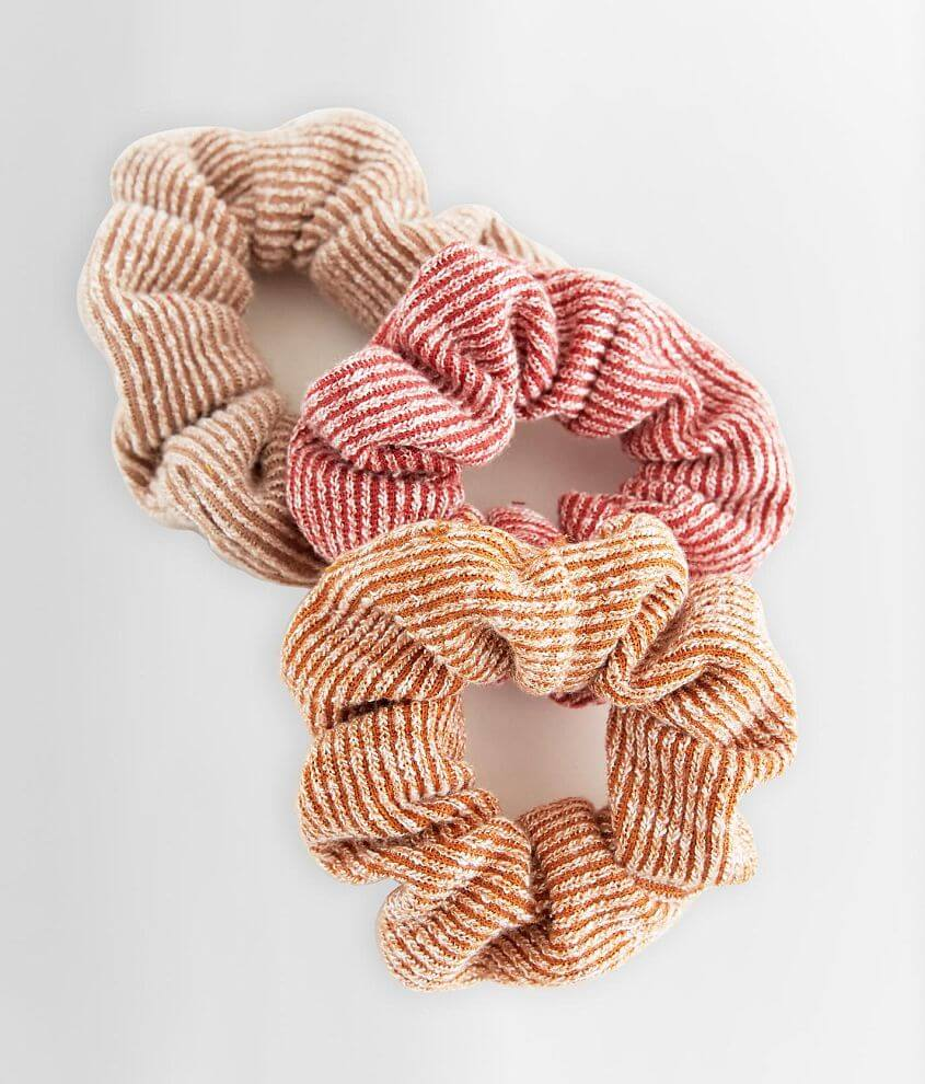 BKE 3 Pack Ribbed Hair Scrunchies front view