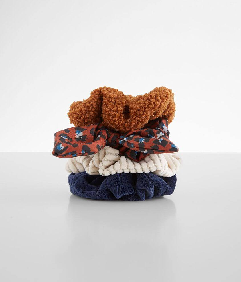 BKE 4 Pack Textured Hair Scrunchies front view