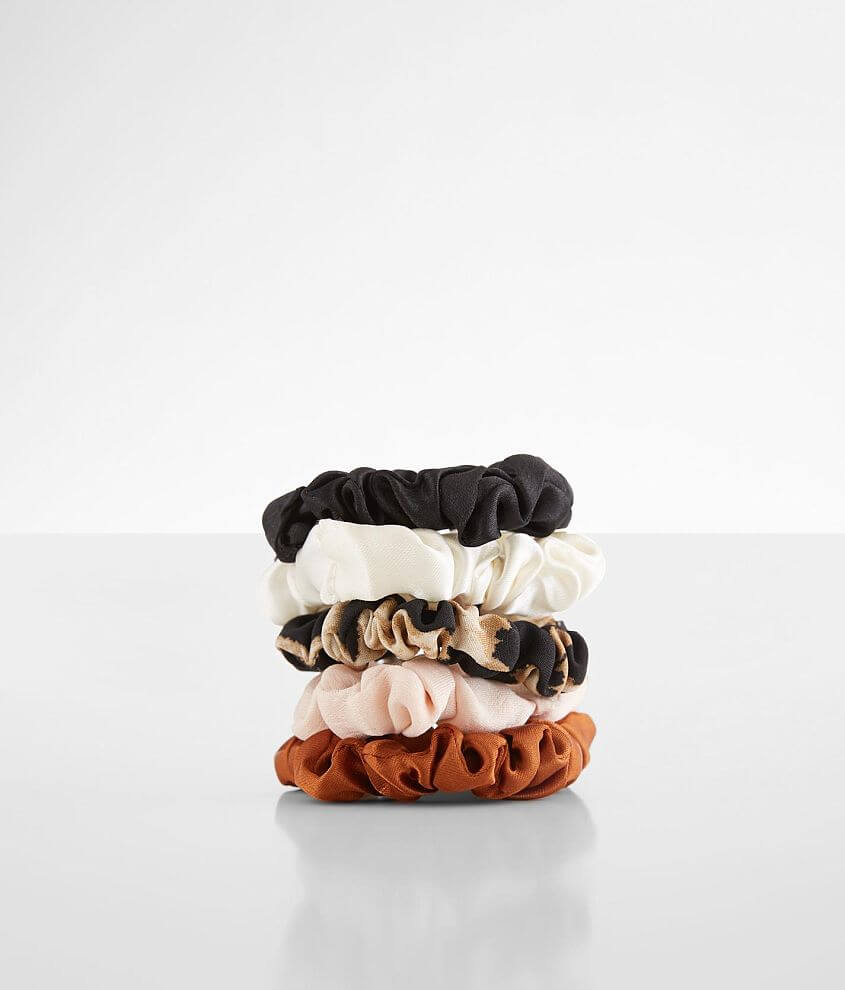 BKE 5 Pack Thin Hair Scrunchies front view