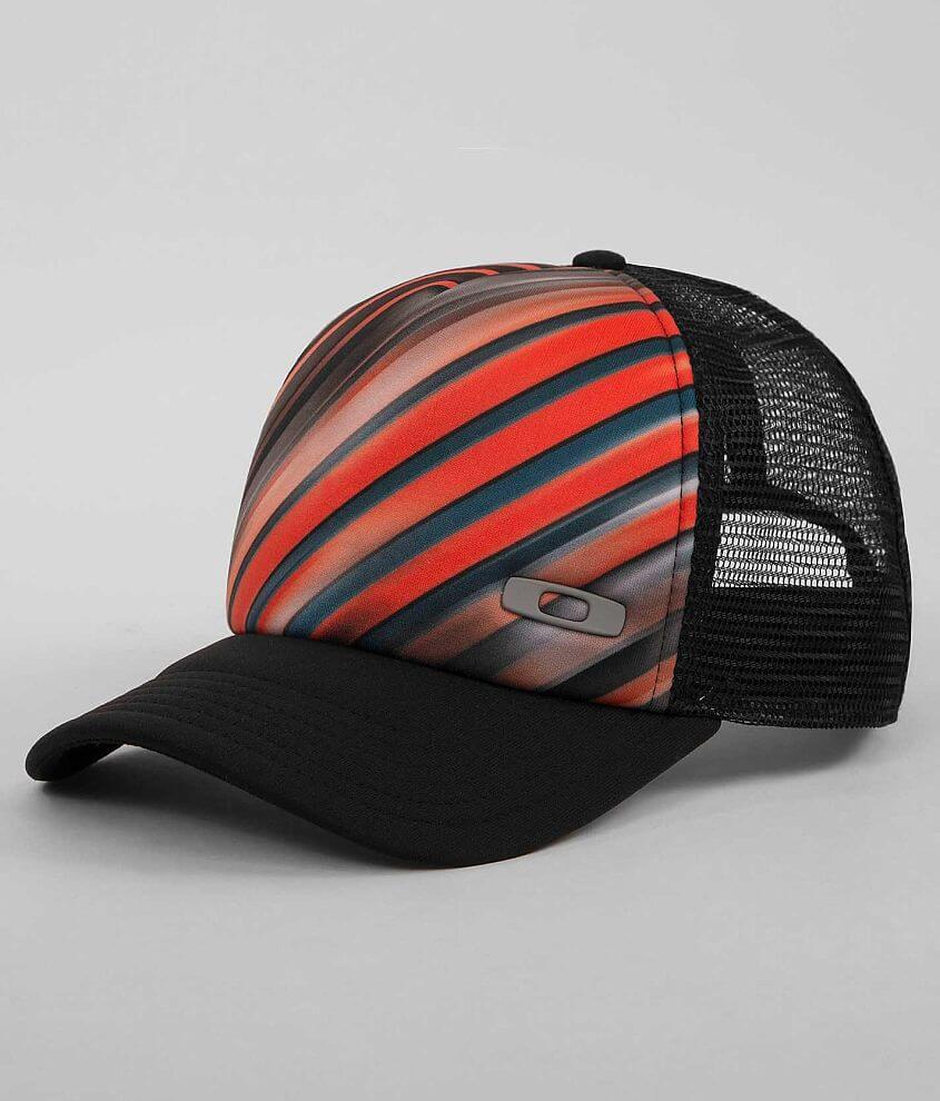 Oakley Striped Trucker Hat front view