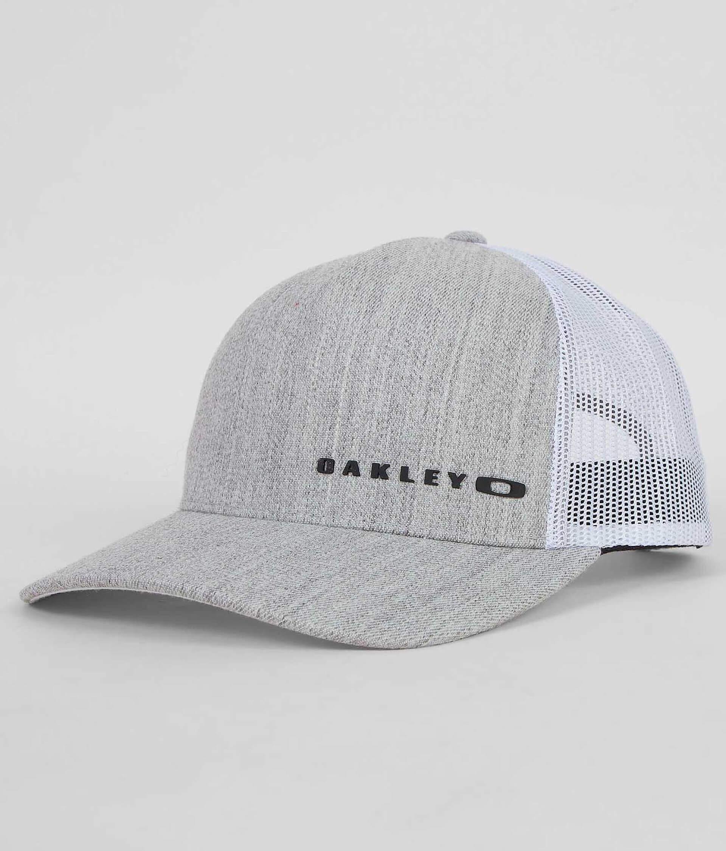 af7a90aa18f438 Oakley Halifax Trucker Hat - Men's Hats in Stone Grey | Buckle