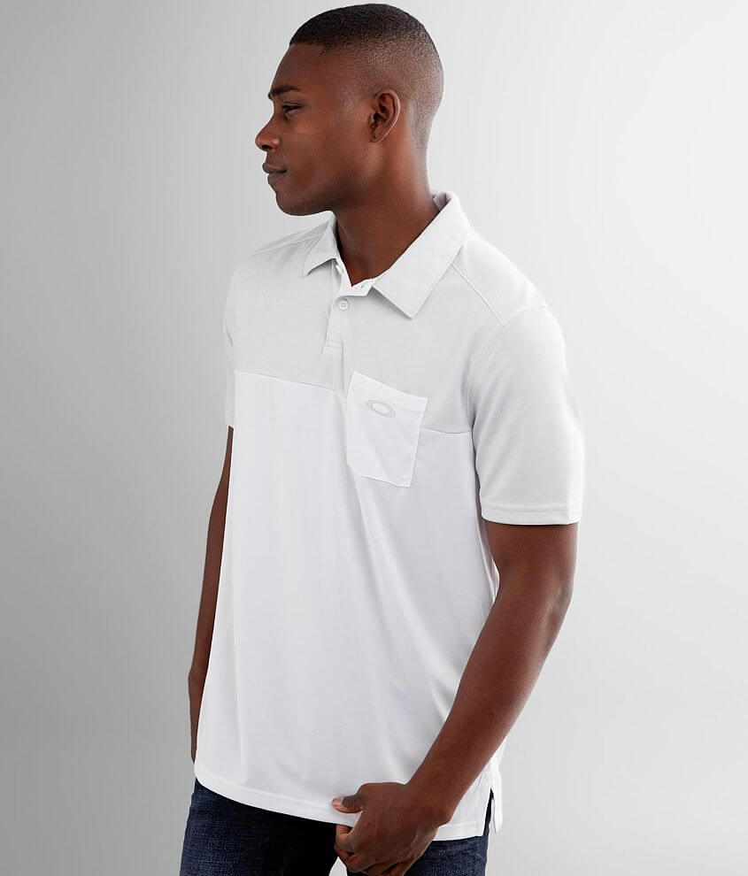 Oakley Blocked Gravity Performance Polo front view