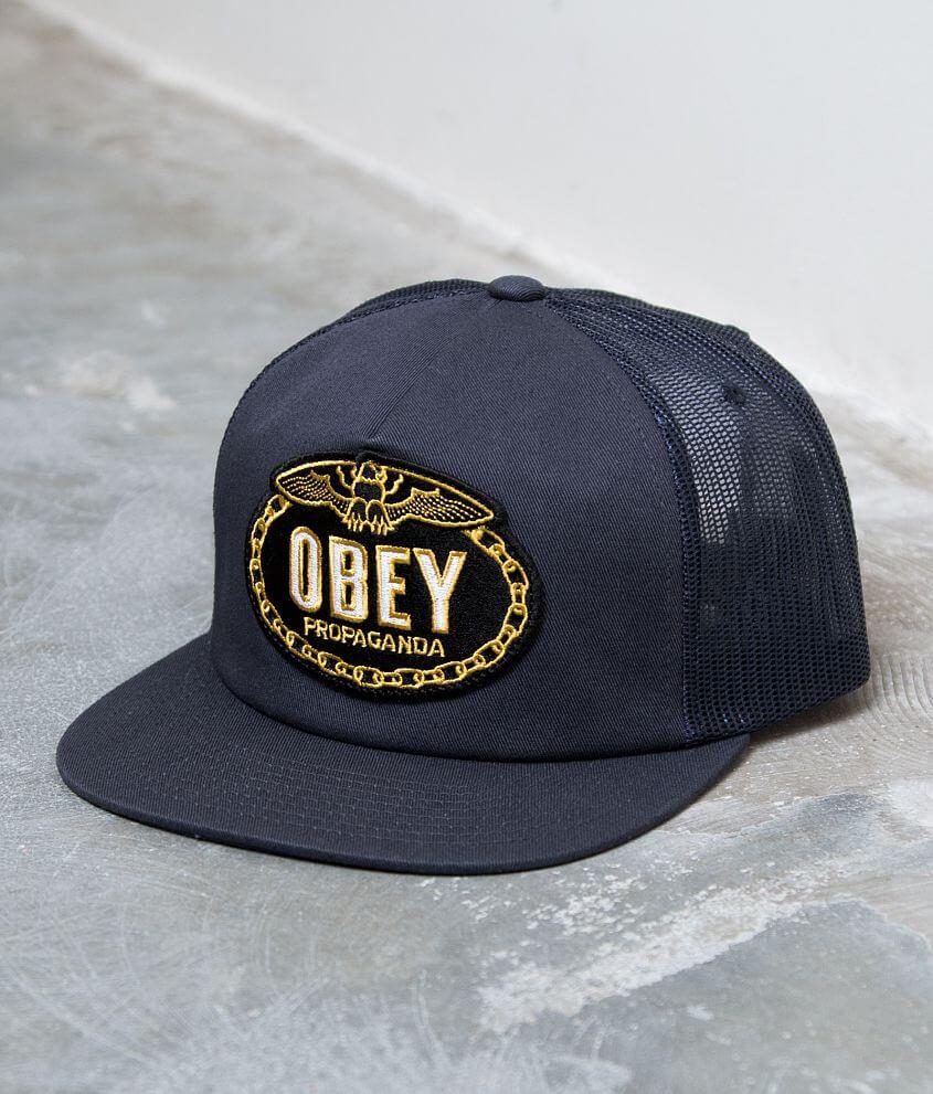 d87032c265e OBEY Chains Trucker Hat - Men s Hats in Navy