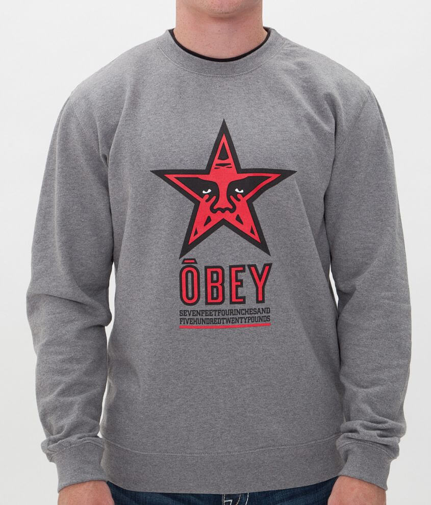 OBEY Star 96 Sweatshirt front view