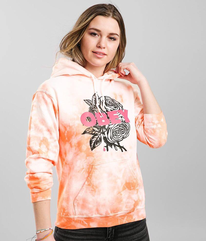 OBEY Blood & Roses Hooded Sweatshirt front view