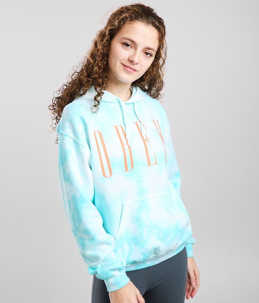 OBEY New Tie Dye Hooded Sweatshirt front view