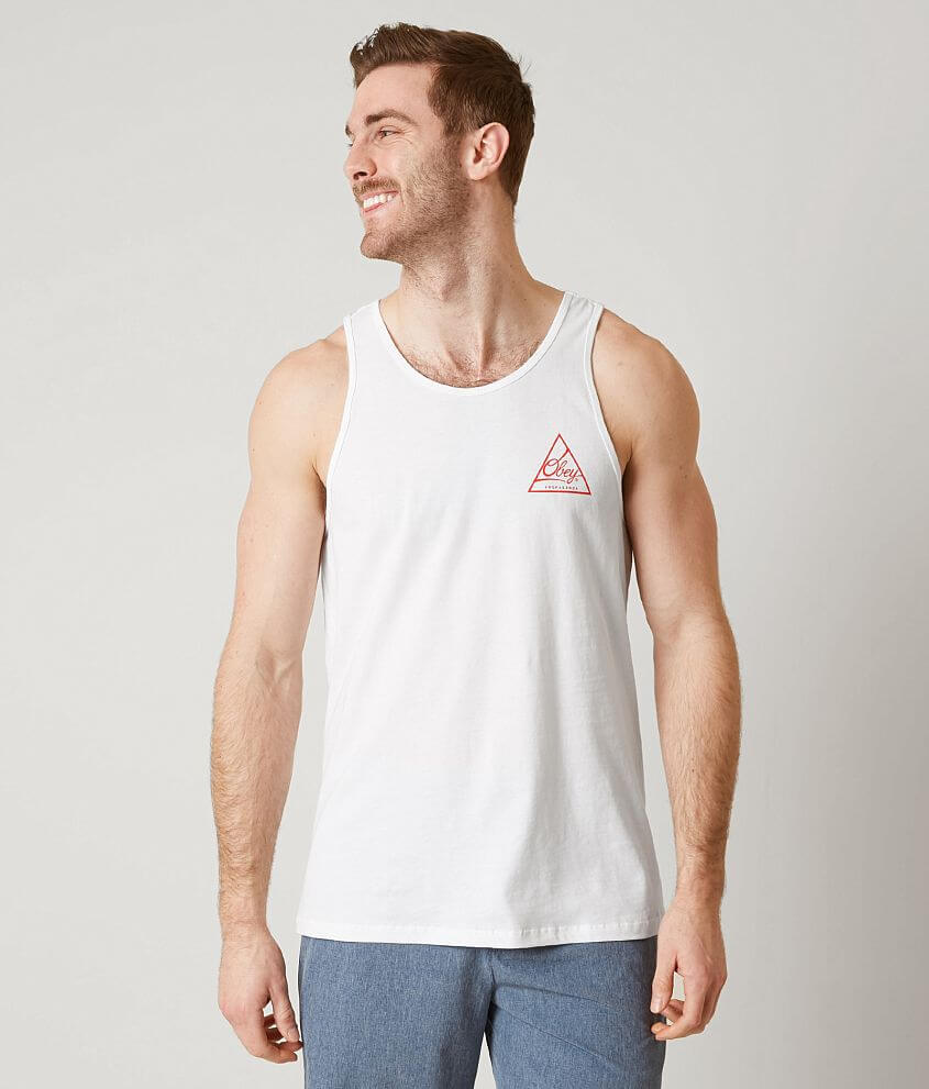b4486453f234a OBEY Next Round Tank Top - Men s Tank Tops in White