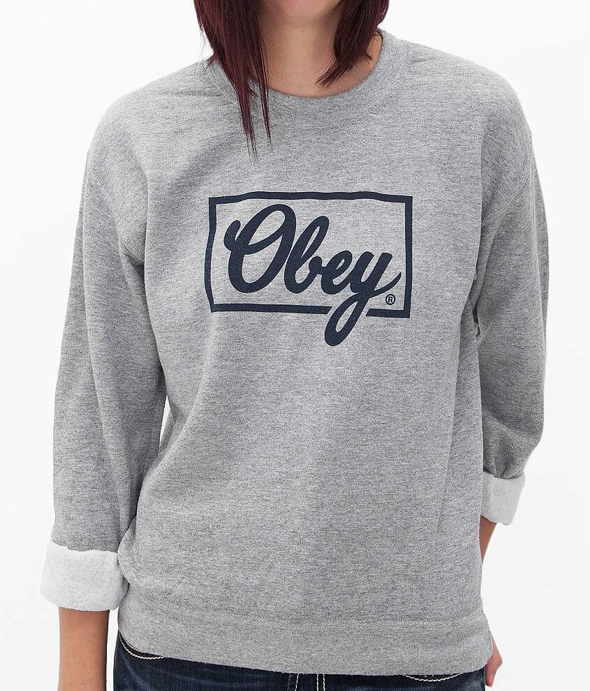 OBEY Club Script Sweatshirt front view
