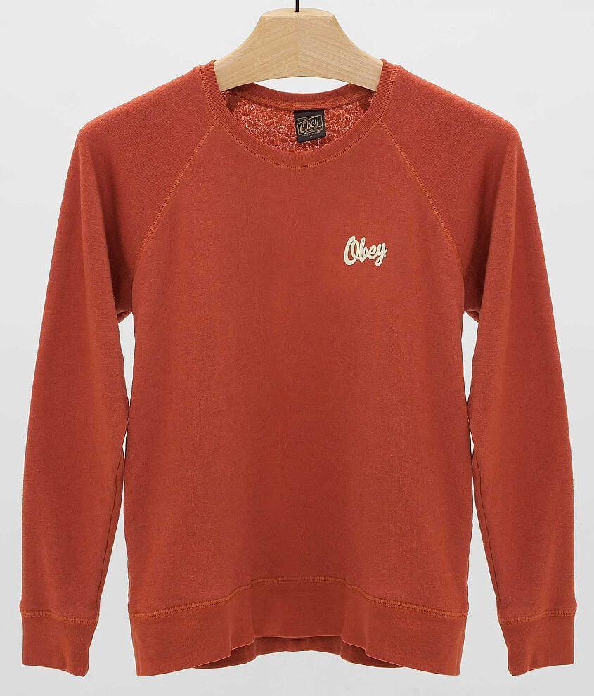 OBEY Dewallen Script Sweatshirt front view