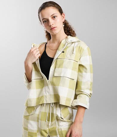 OBEY Provence Checkered Plaid Hooded Jacket