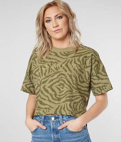 OBEY Mad River Cropped T-Shirt