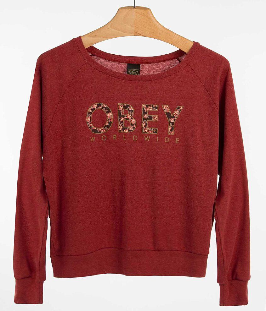OBEY Floral Worldwide Sweatshirt front view