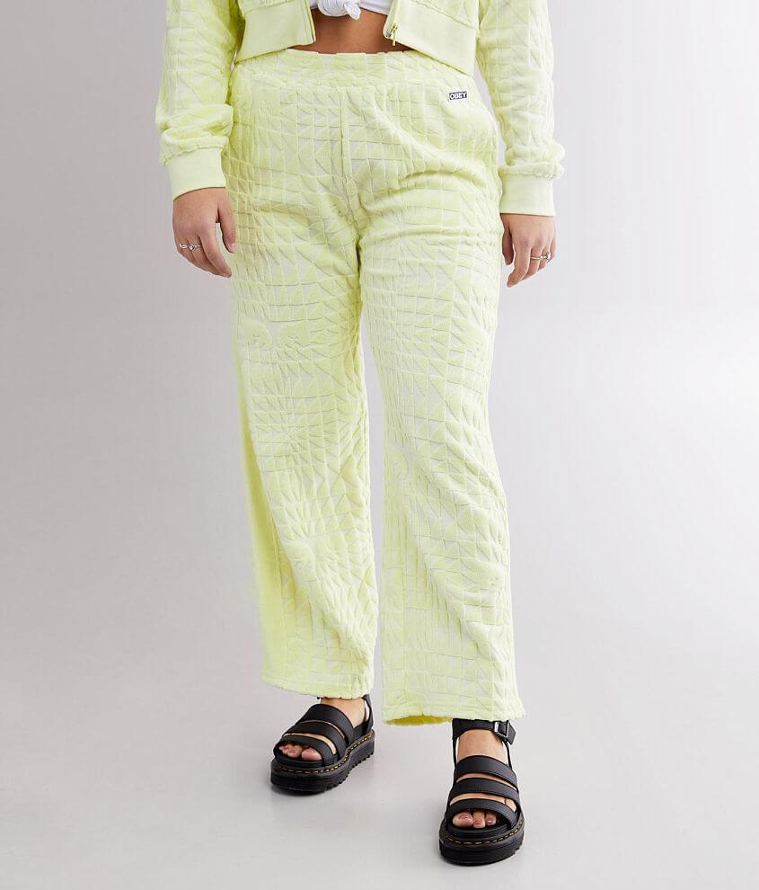 OBEY Terry Wide Leg Track Pant front view