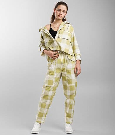 OBEY Provence Checkered Plaid Wide Leg Pant