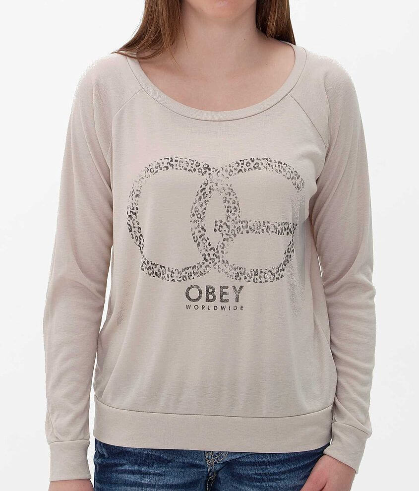 OBEY Cheetah Sweatshirt front view