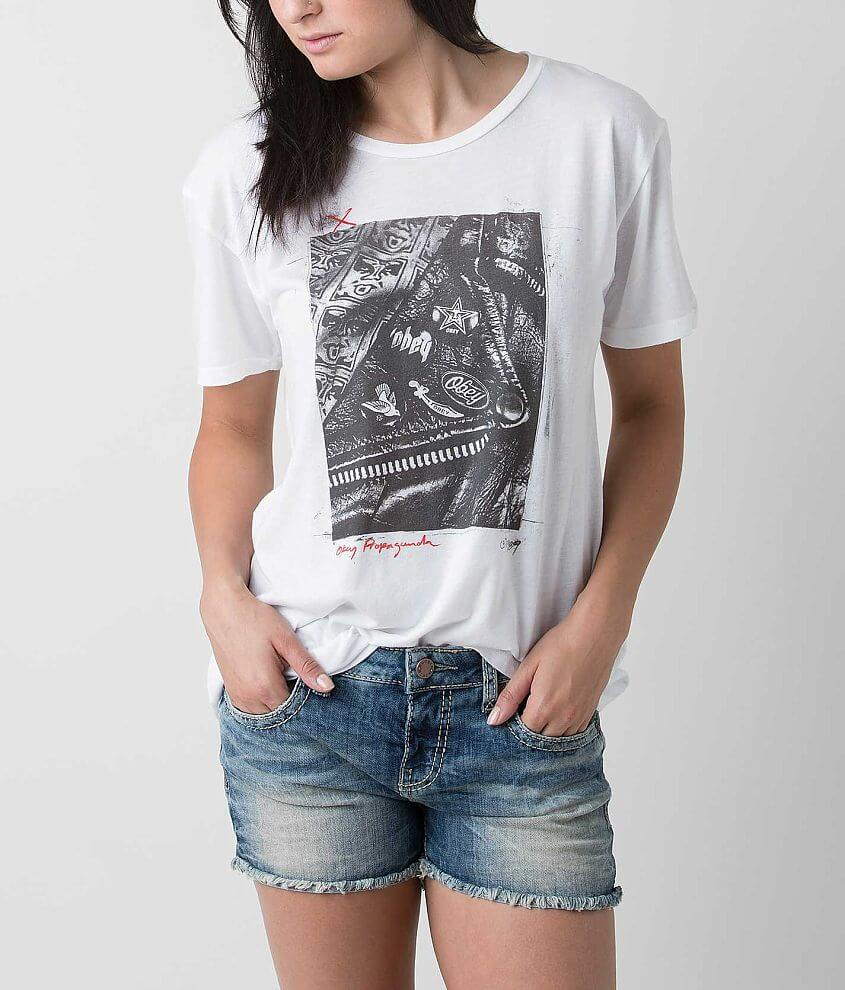 OBEY Too Fast For Pleather T-Shirt front view