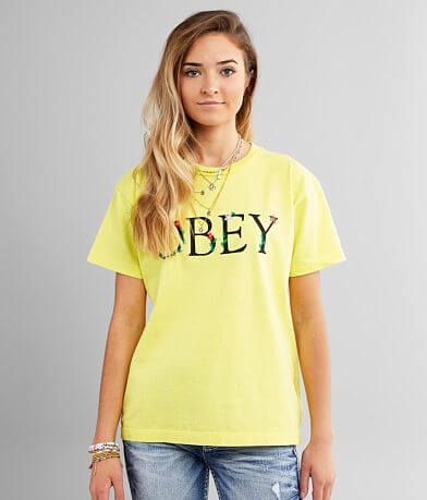 OBEY Flower Serif T-Shirt