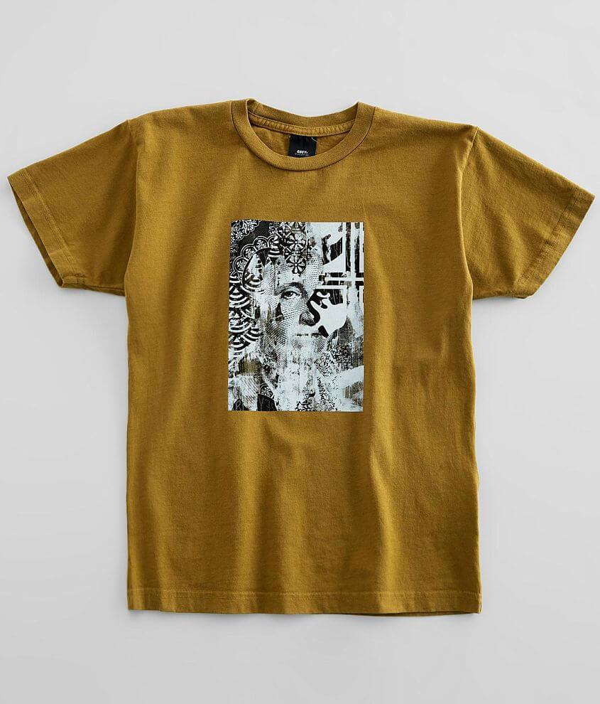 OBEY Cream Icons T-Shirt front view