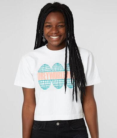 OBEY Global Cropped T-Shirt