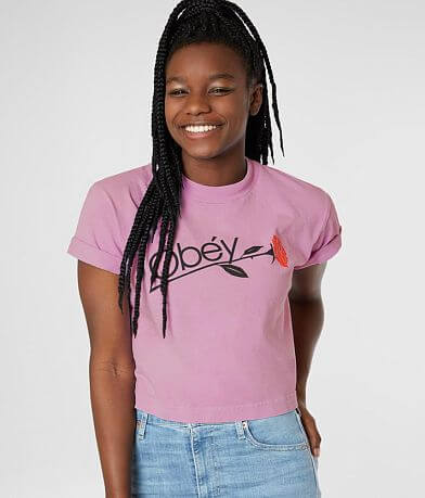 OBEY Rose Cropped T-Shirt