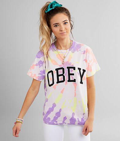 OBEY Academic Tie Dye T-Shirt