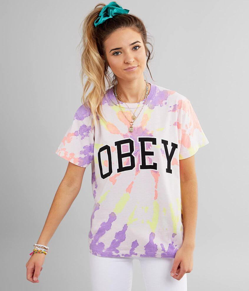OBEY Academic Tie-Dye T-Shirt front view