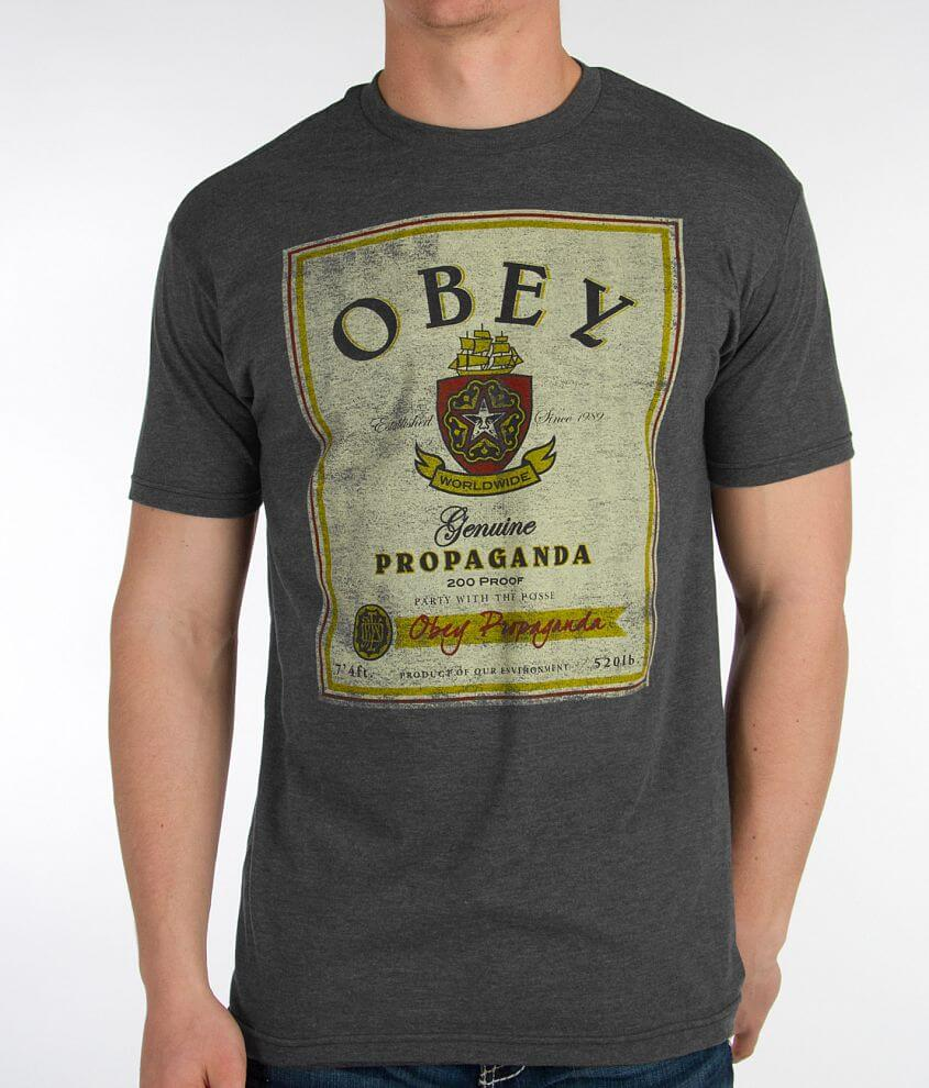 OBEY Whiskey T-Shirt front view