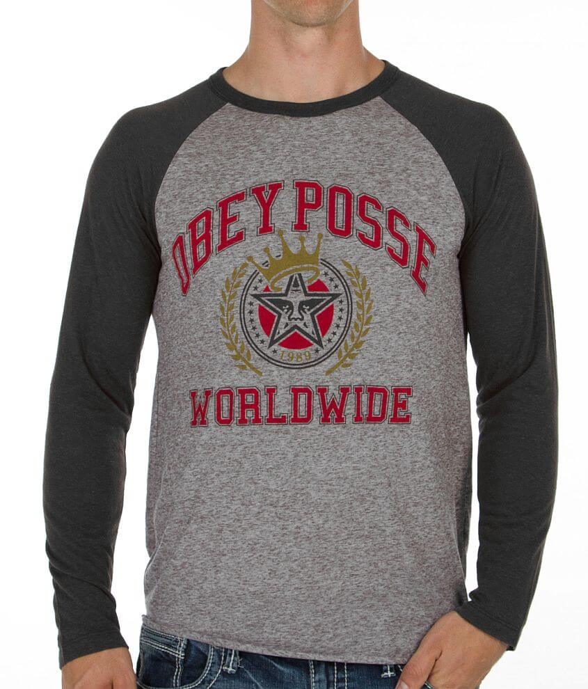 OBEY Posse Worldwide T-Shirt front view