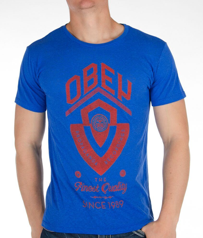 OBEY Guitar Shield T-Shirt front view