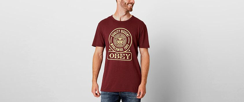 OBEY Quality Dissent T-Shirt front view