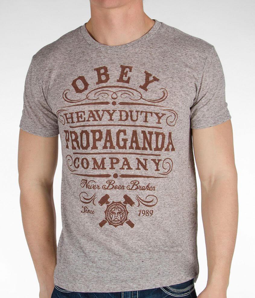OBEY Heavy Duty Propaganda T-Shirt front view