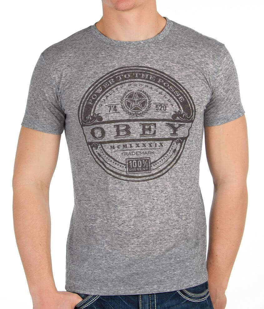 OBEY Power Label T-Shirt front view
