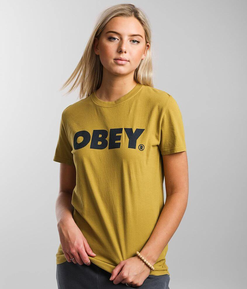OBEY Dissent & Chaos T-Shirt front view