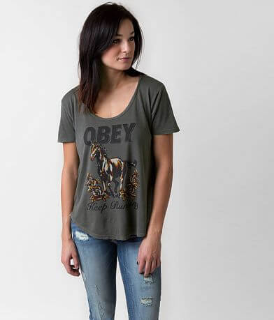 OBEY Mustang Roses T-Shirt