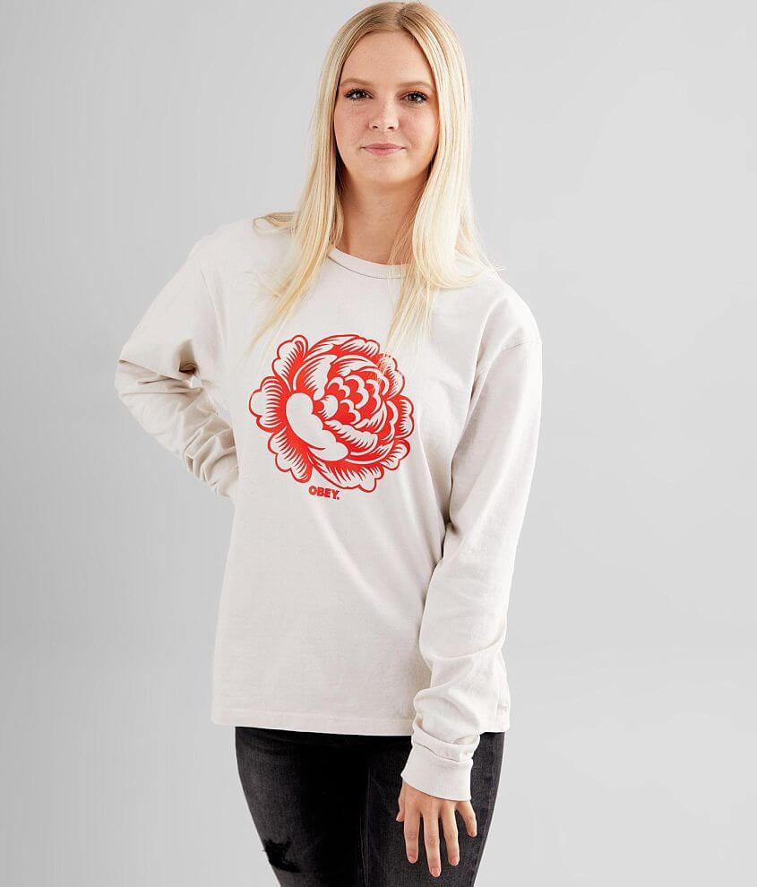 OBEY Organic Flower T-Shirt front view