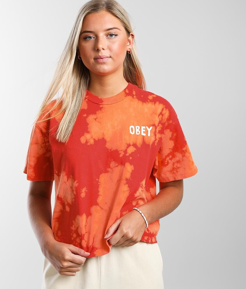 OBEY OG Tie-Dye T-Shirt front view